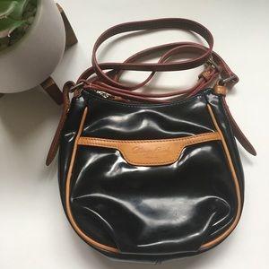 Dooney Bourke Black Leather Crossbody Bag